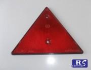 Triángulo reflectante rojo